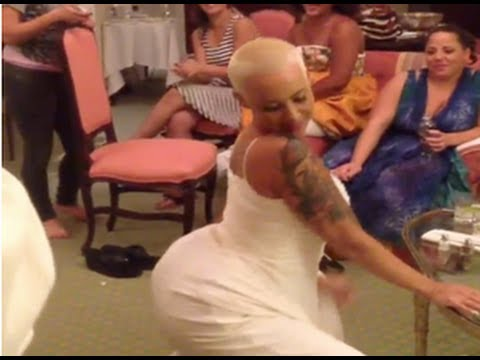 Amber Rose Twerking In Her Wedding Dress!