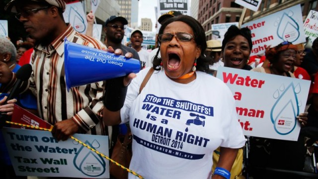 Detroit Shuts Off Water to Residents but Not to Businesses Who Owe Millions