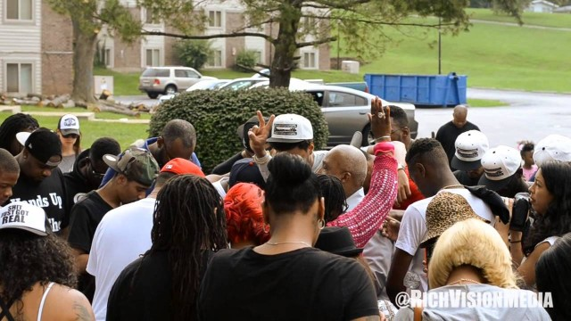 J. Cole Pays Respects to Michael Brown at Slain Teen's Memorial