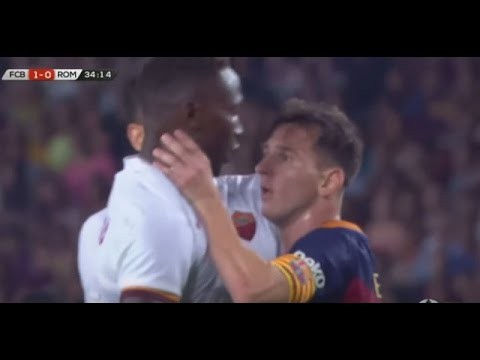 Lost It Soccer Superstar Lionel Messi Head Butts Defender, Then Grabs Him By The Throat! 2015