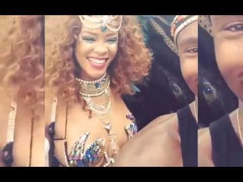 Rihanna in Barbados Carnival 2015 Video Compilation