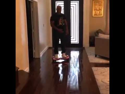 Mike Tyson Falls off Hoverboard